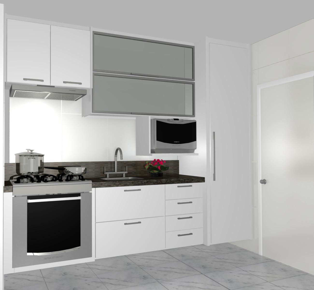 Cozinha De Apartamento Pequeno Simples Reforma Do Apartamento Antes