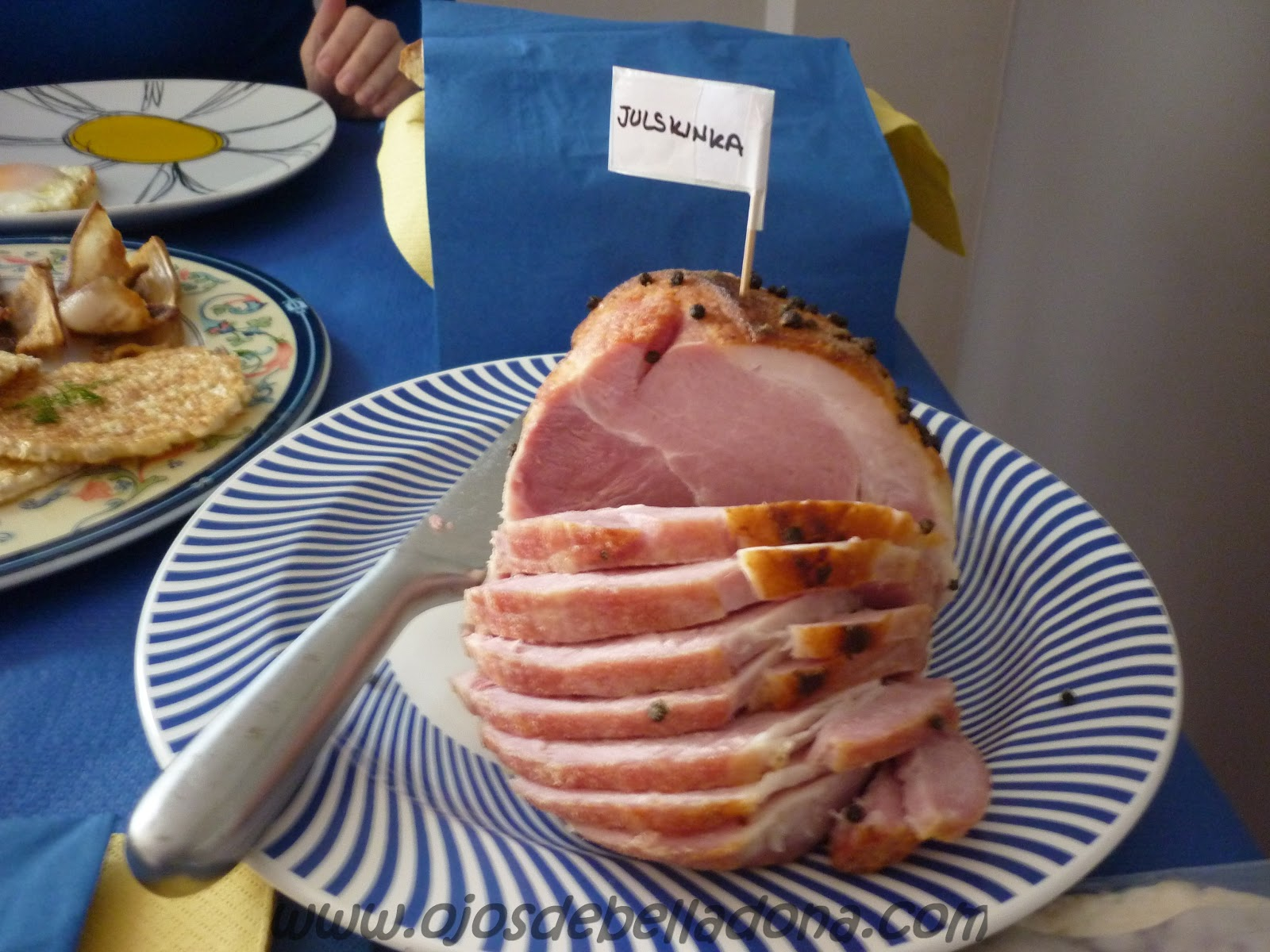 Julskinka o Jamón de Navidad, comidas del mundo, Suecia, sueca