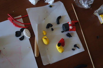 Fimo Mickey Mouse broken bits and pieces