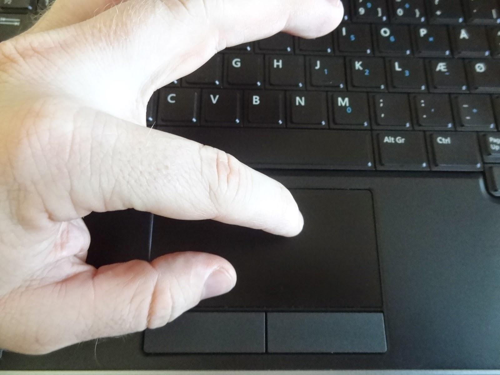 Dell Latitude E7240 no multitouch touchpad