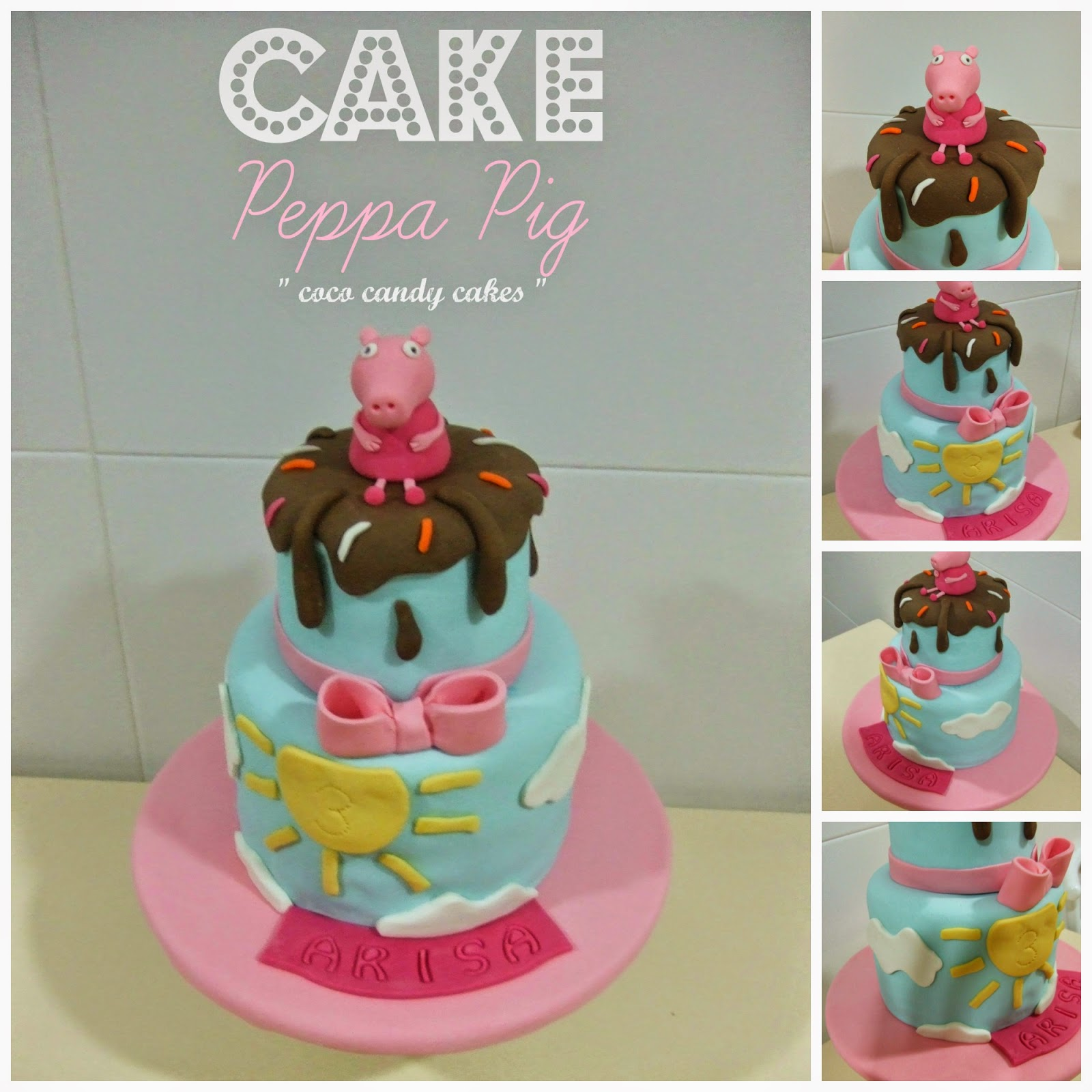 coco candy cakes: Cake Peppa Pig.