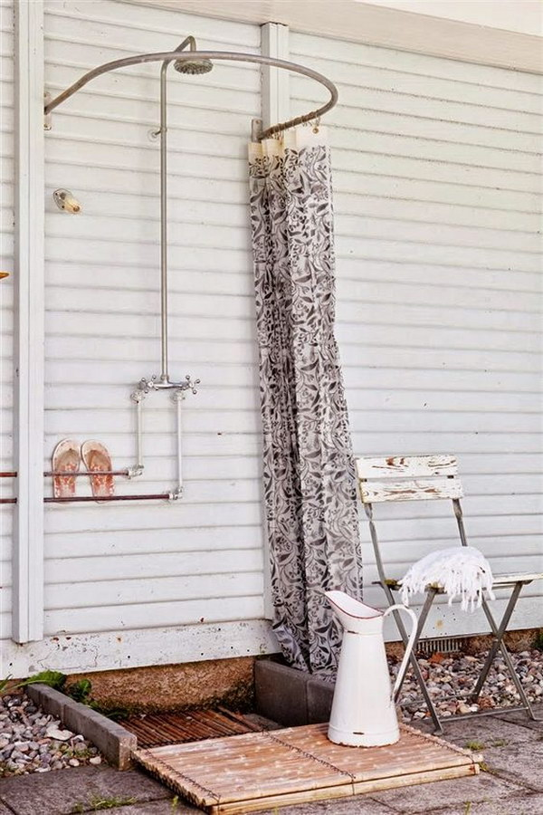 two men and a little farm  outdoor shower inspiration thursday
