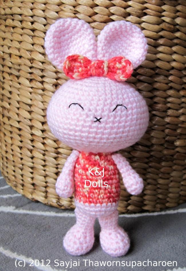 Amigurumi Crochet Patterns Baby : Baby Bunny Crochet Pattern - Sayjai Amigurumi Crochet ...