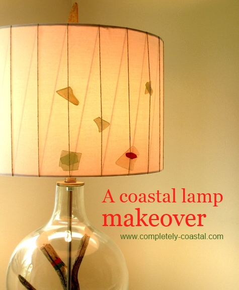 coastal lamp makeover