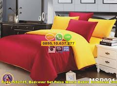 Harga Bedcover Set Polos Warna Bebas Kombinasi Sendiri Jual