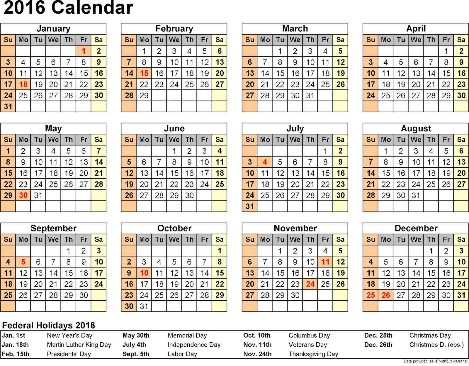 word weekly schedule