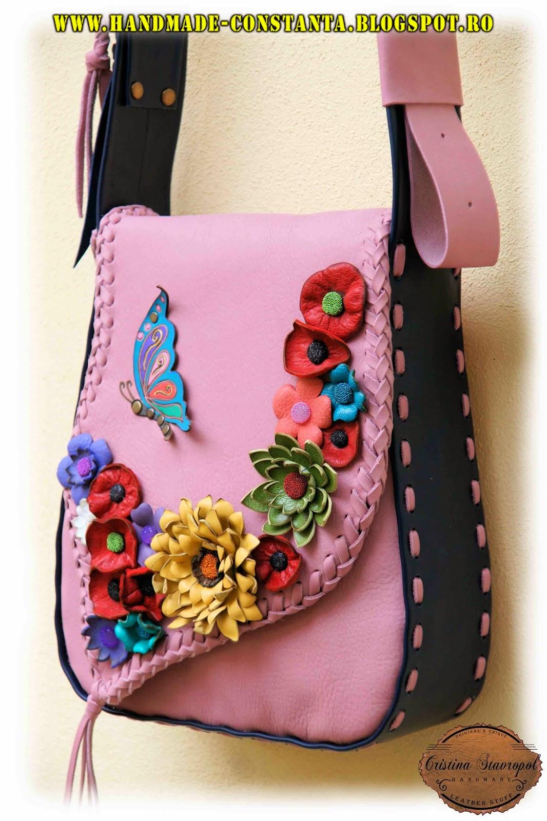 geanta cu floricele