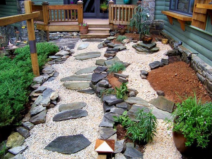 Taman Kering Rumah Minimalis ala Jepang