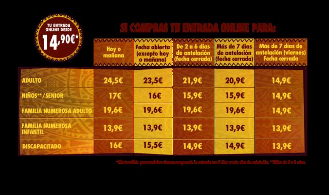 Precios entradas al Selwo Aventura de Estepona