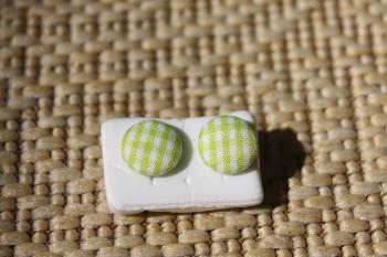 Green gingham linen