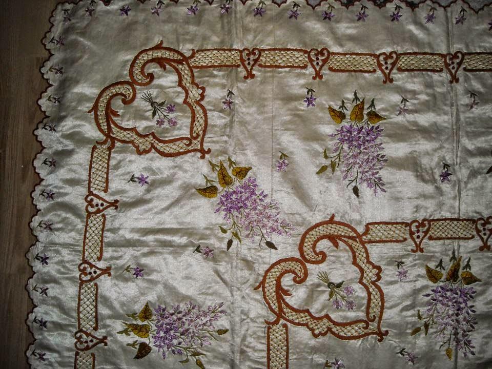 osmanlı yatak örtüsü, el işlemeleri,osmanlı el işlemeleri,