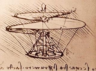 Desenho de Leonardo da Vinci no Jogos de Aviao