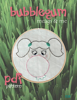 meags and me Spring Stitchery Patterns- Bubblegum