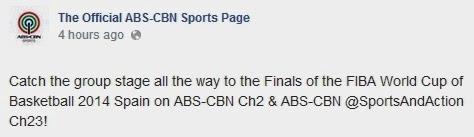 2014 FIBA Basketball World Cup ABS-CBN