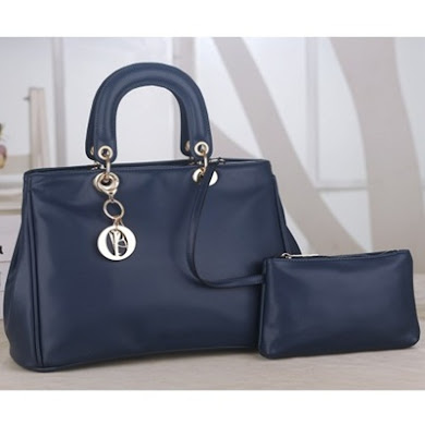 DIOR DESIGNER BAG (2 IN 1 SET) - NAVY BLUE