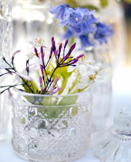 vintage cut glass vases