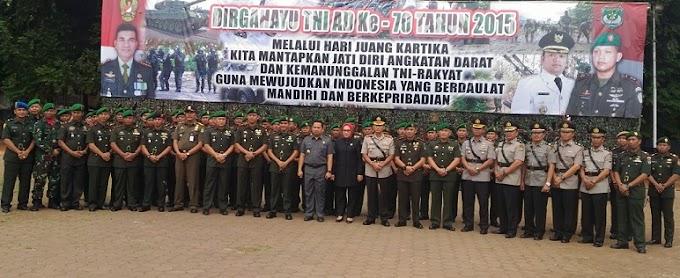 Danrem 052/Wkr Irup HUT TNI AD ke-70