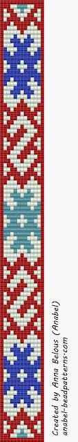 Схема браслета со славянским орнаментом - ткачество / гобеленовое плетение