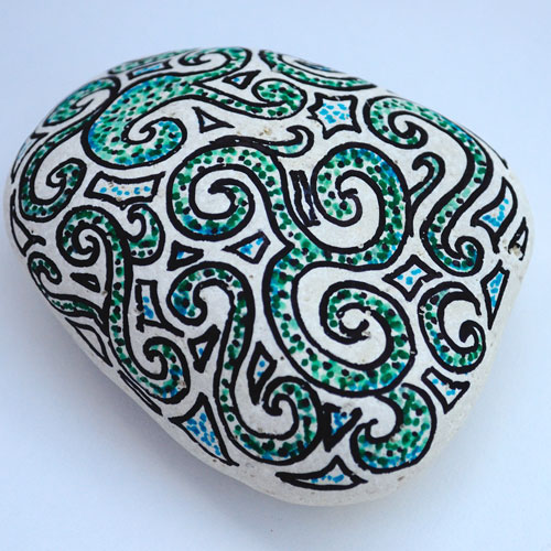 decorated pebble