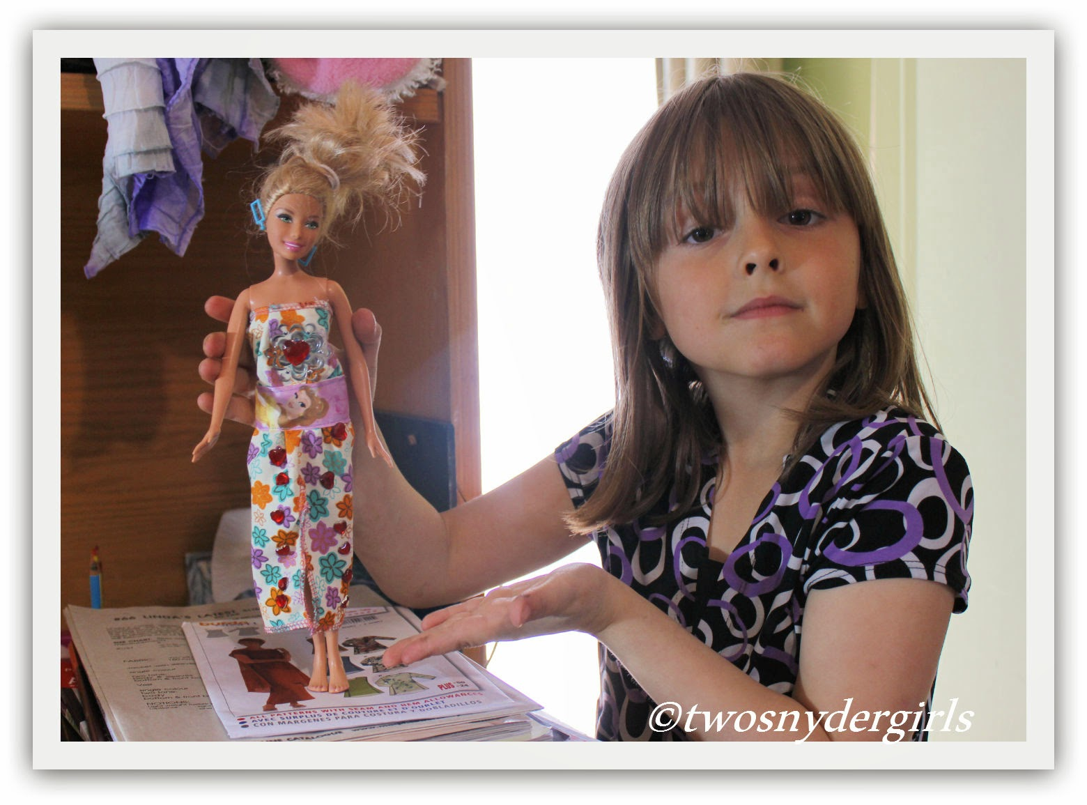 Rylee and her Barbie dress Design
