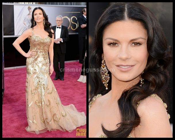 Vestido da Catherina Zeta-Jones no Oscar 2013