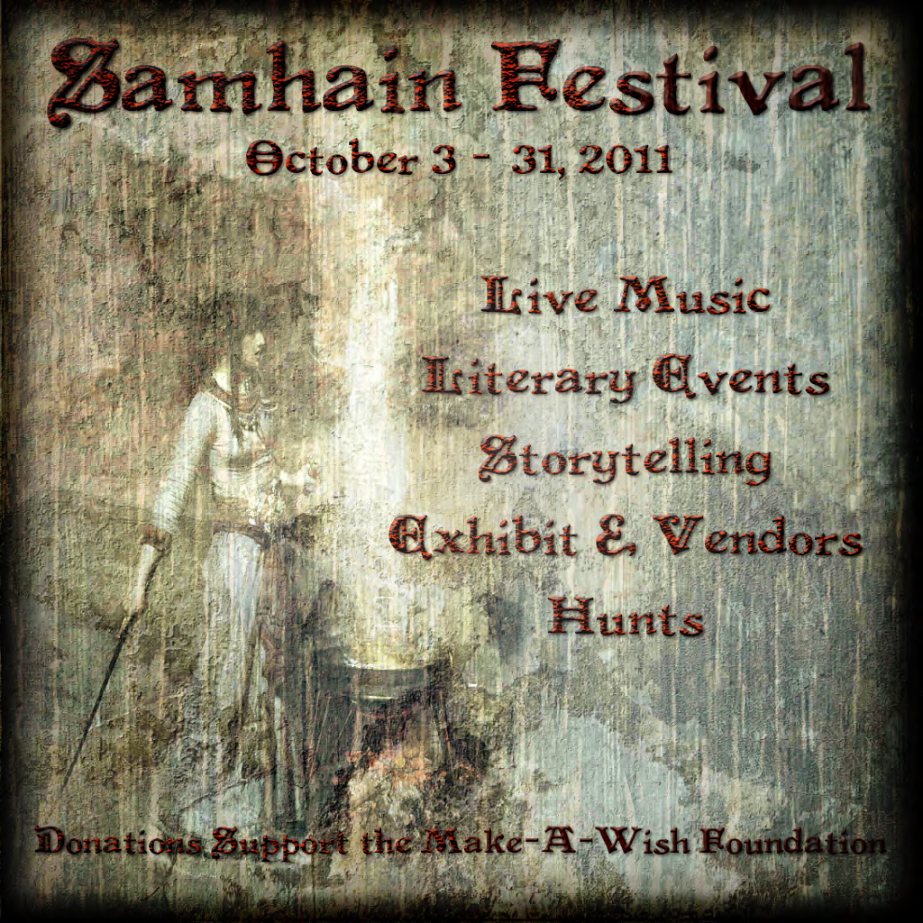 Arts Literature: SL ARTS & LITERATURE: Samhain Festival 2011 Benefits The