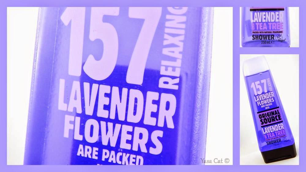 Lavendelblüten, Teebaum, intensiv duftend, Duschgel