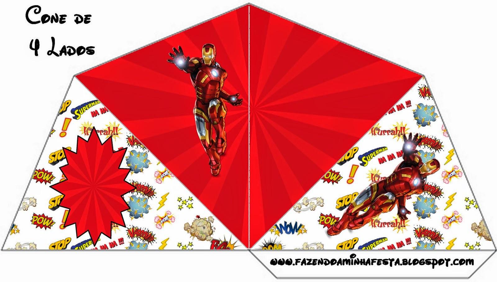 Para Conos=Cucuruchos de Iron Man.
