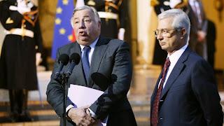 Le président du Sénat, Gérard Larcher (à g.), et celui de l'Assemblée nationale, Claude Bartolone