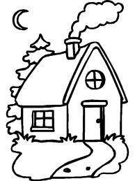Desenho - Casa para colorir.