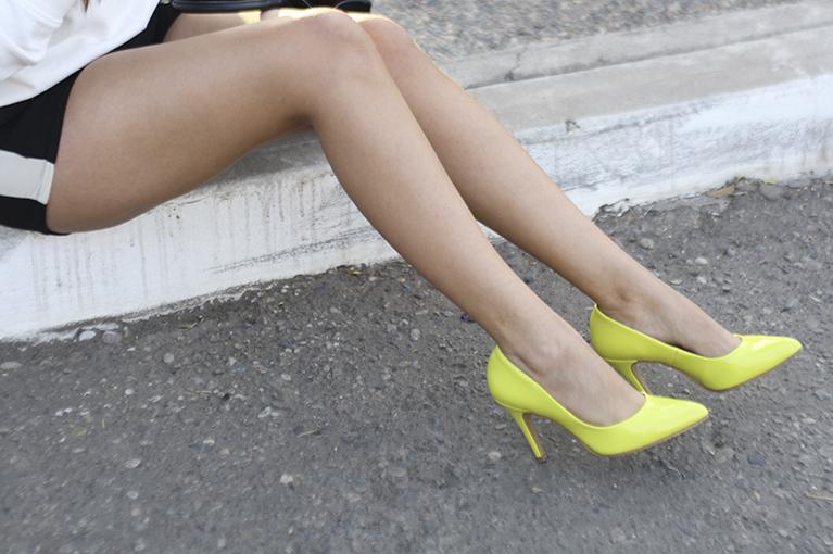 Perugia dafiti tacones neon amarillos