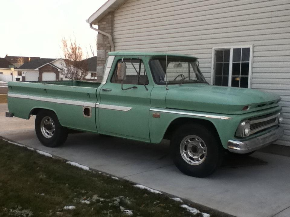 The evil hippie 1966 chevy pickup for sale 61k 327v8 automatic
