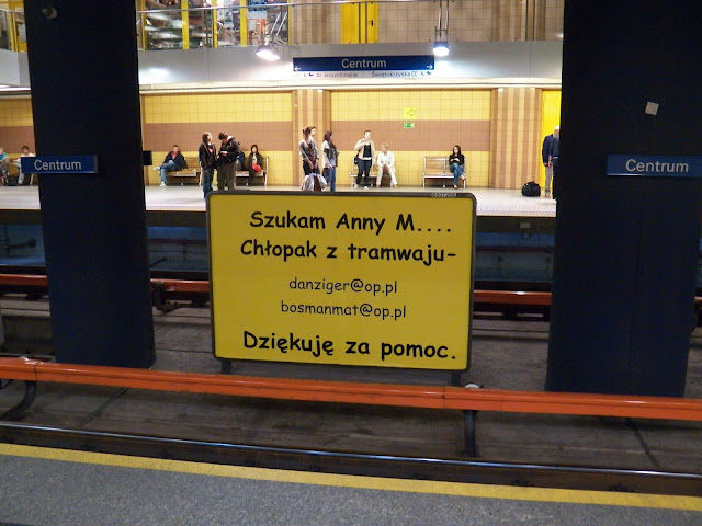 Warsaw Metro Advertisement Szukam Anny M Chlopak z tramwaju