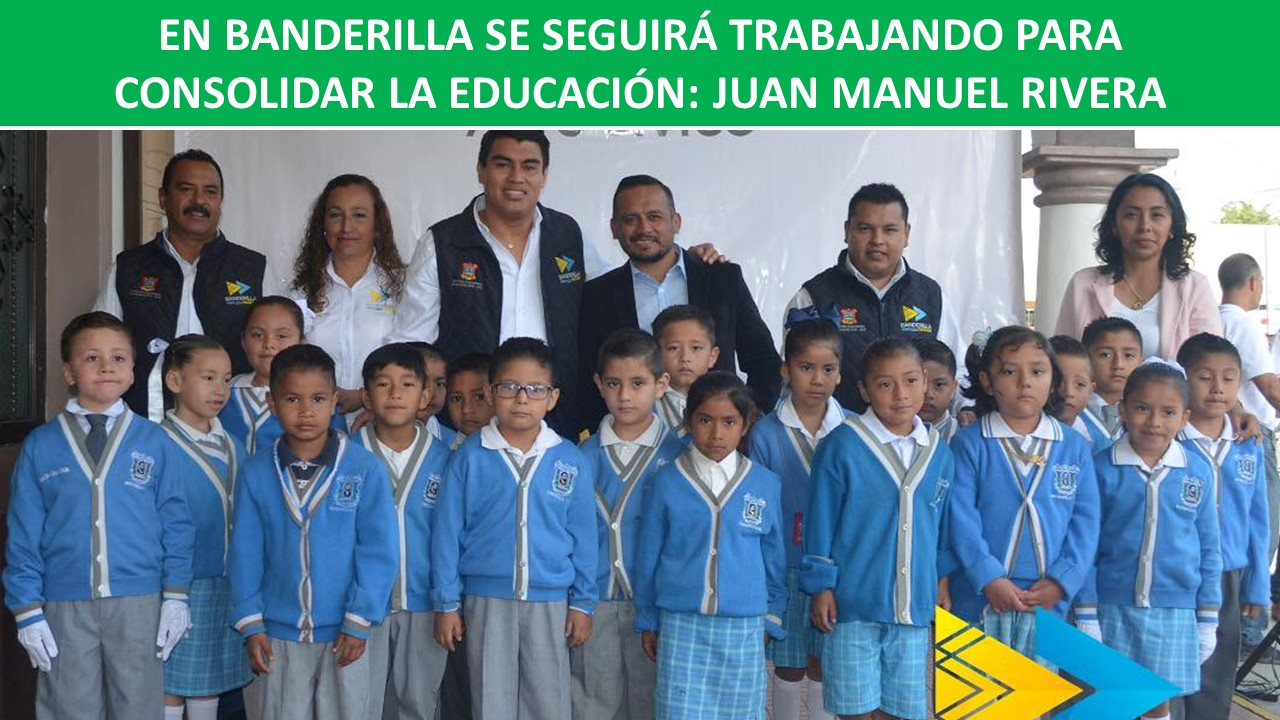 apoyo a la educación en banderilla