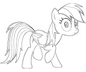 #1 Rainbow Dash Coloring Page