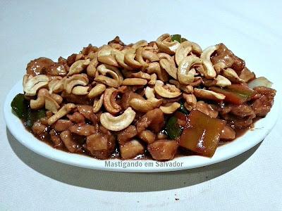 Restaurante Tai San: Frango Xadrez com Castanhas
