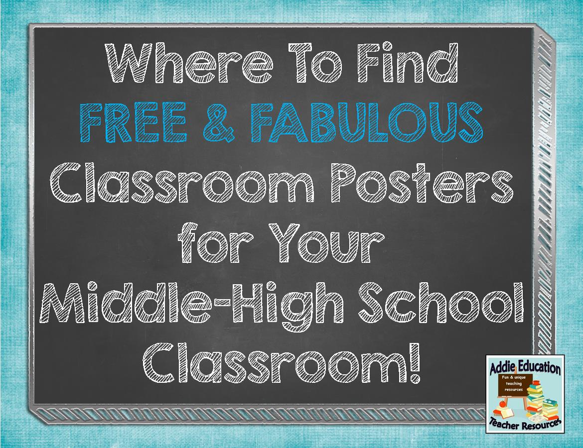 Cool Math Classroom Decorations ~ Math classroom posters middle school for