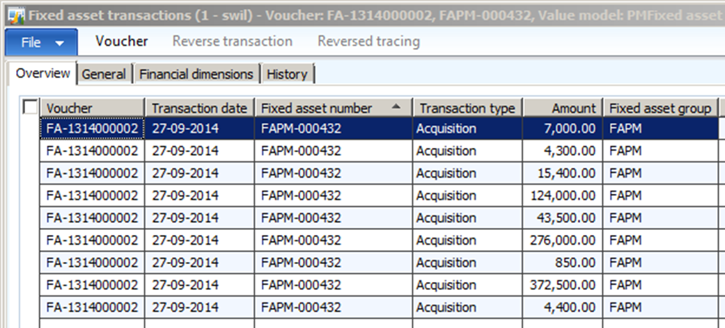MS Dynamics Ax 2012: How to Book Transaction for Fixed Assets in ...