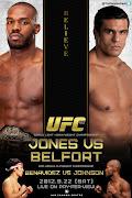 Jon Jones vs. Vitor Belfort (LHW Title) Joeseph Benavidez vs.