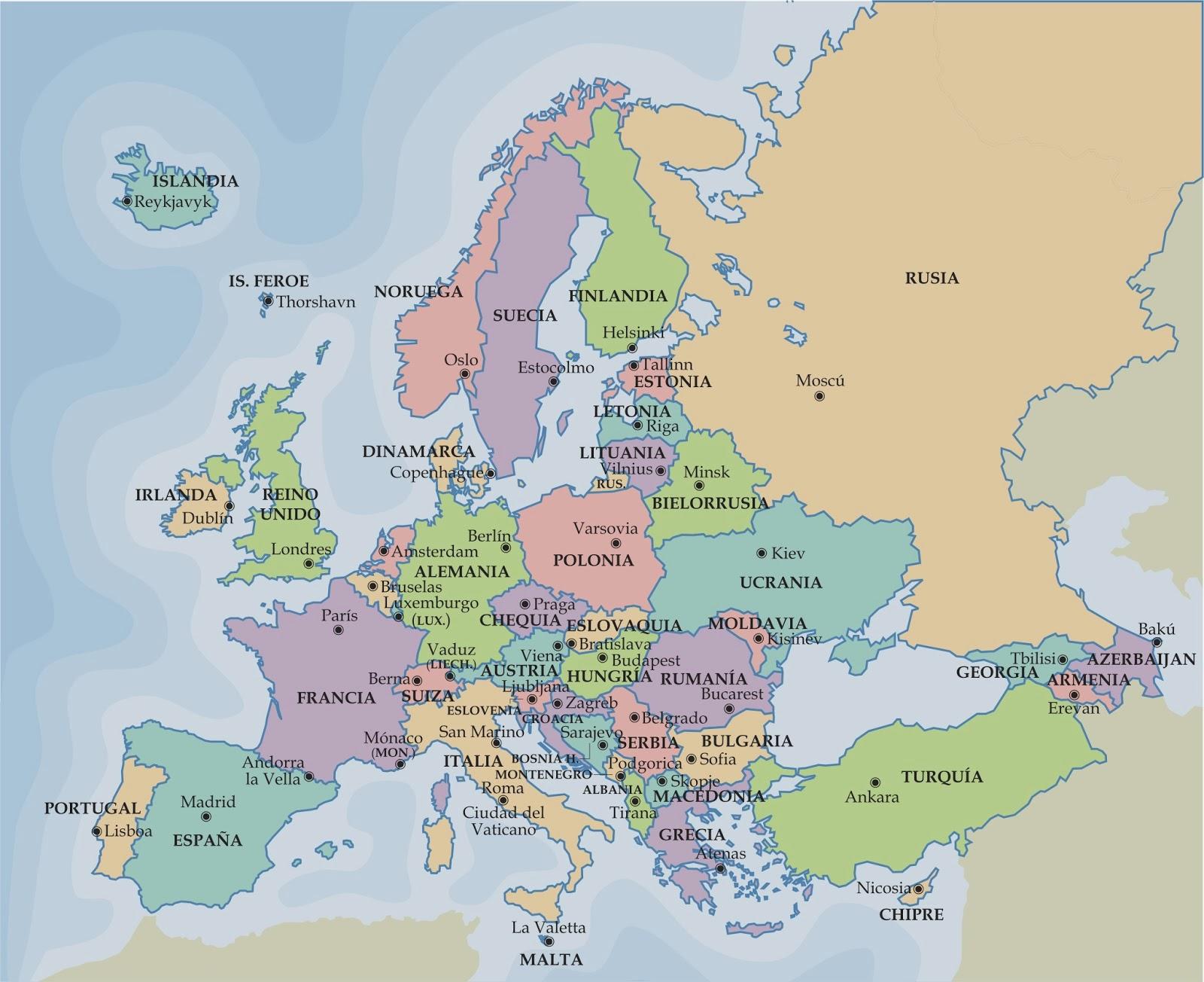 Mapas fsicos y polticos de Espaa Europa y el Mundo para