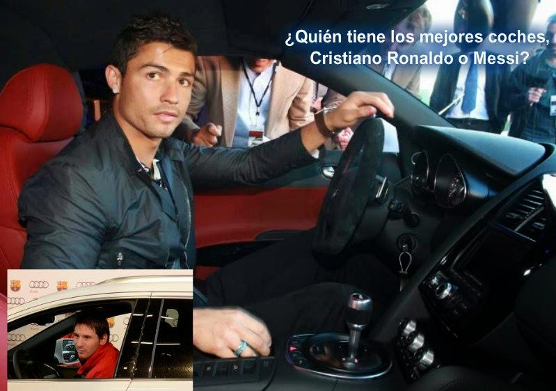Quién tiene los mejores coches, Cristiano Ronaldo o Messi