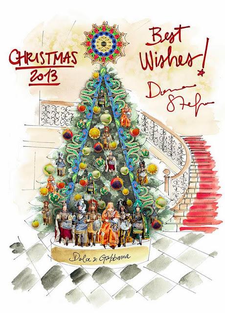 Dolce & Gabbana Christmas Tree for Claridge's Hotel, London, 2013