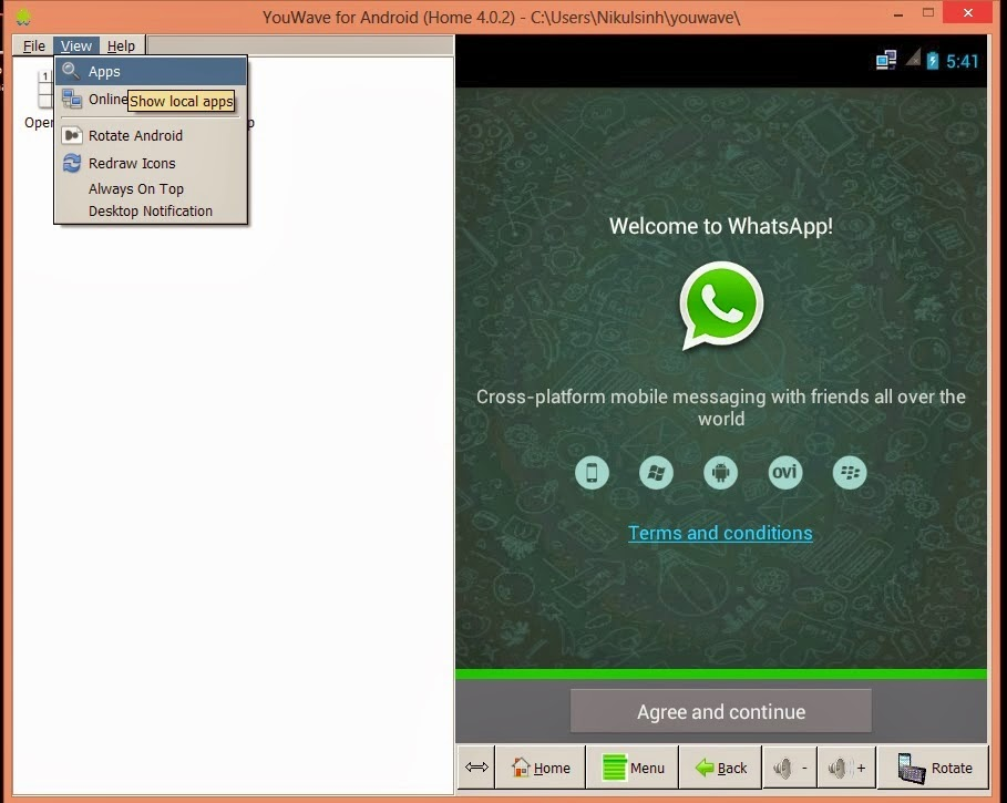 whatsapp windows 7