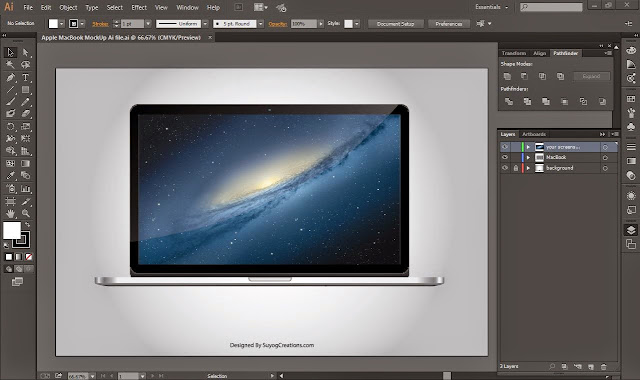Apple MacBook Pro MockUp Ai and Psd file
