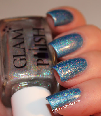 Glam Polish - Silver Mist with top coat of Gliss