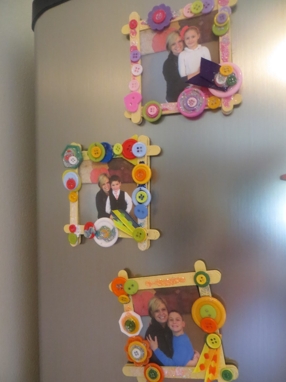 Denises yadda yadda on soap making crafts personal ramblings these refrigerator picture frames are easy inexpensive and colorful supplies include jeuxipadfo Gallery