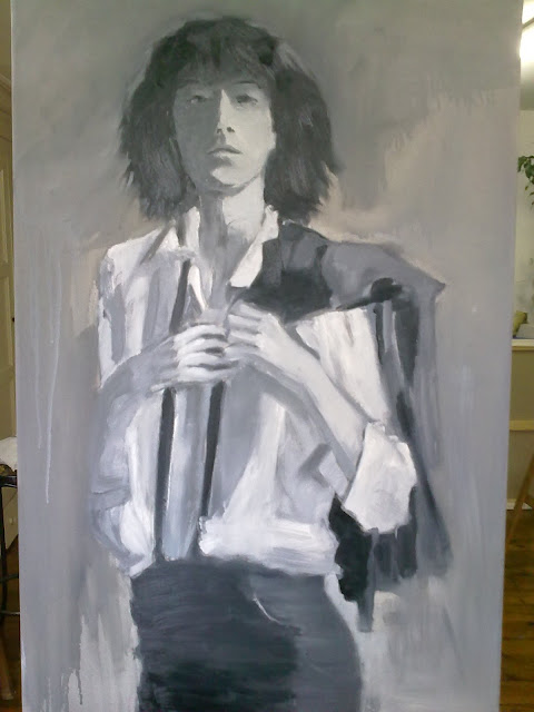 cuadro al óleo Patti Smith
