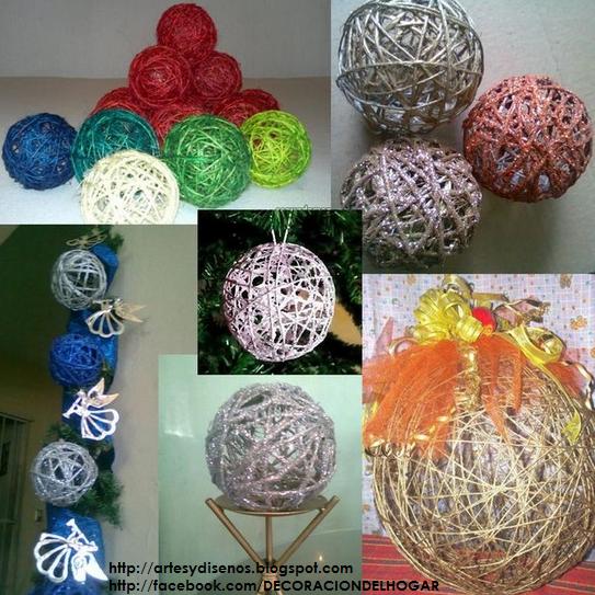 Diy c mo hacer bolas o esferas para navidad decoraci n - Como hacer decoracion navidena para el hogar ...