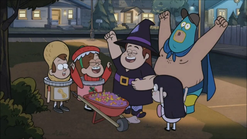 Soos looks like he&#39;s cosplaying as Batman when he had that bare-chested swordfight with Ra&#39;s Al Ghul in the middle of the desert back in the &#39;70s.