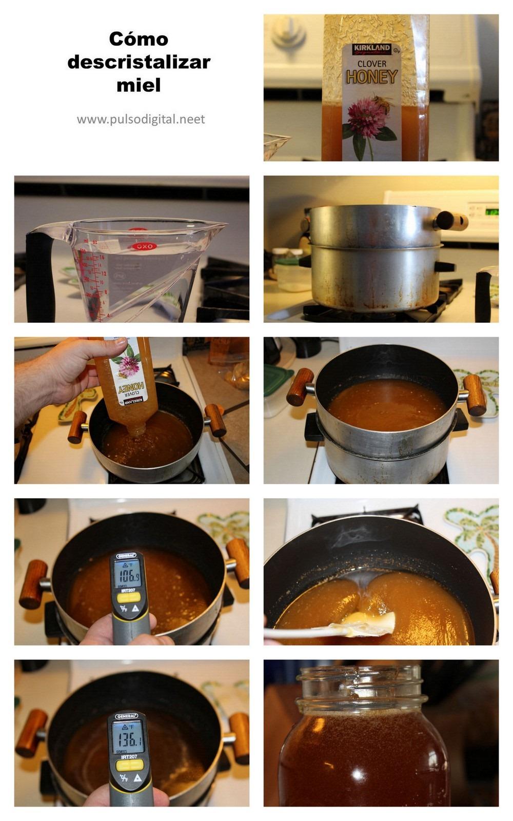 Cómo descritalizar miel